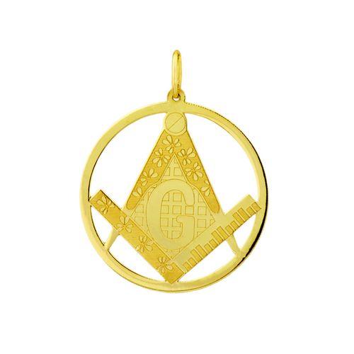 Pingente em Ouro 18k com Símbolo de Maçonaria joiasgold 94fd2d52b5