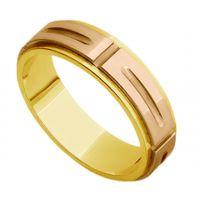 Aliança Bicolor em Ouro 18K