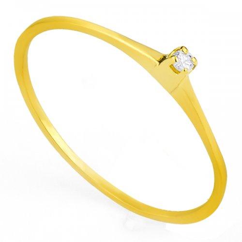 Anel em ouro 18K Solitário com Diamante de 1,5 pontos an32090 KT Anel em ouro 18K Solitário com Diamante an32090