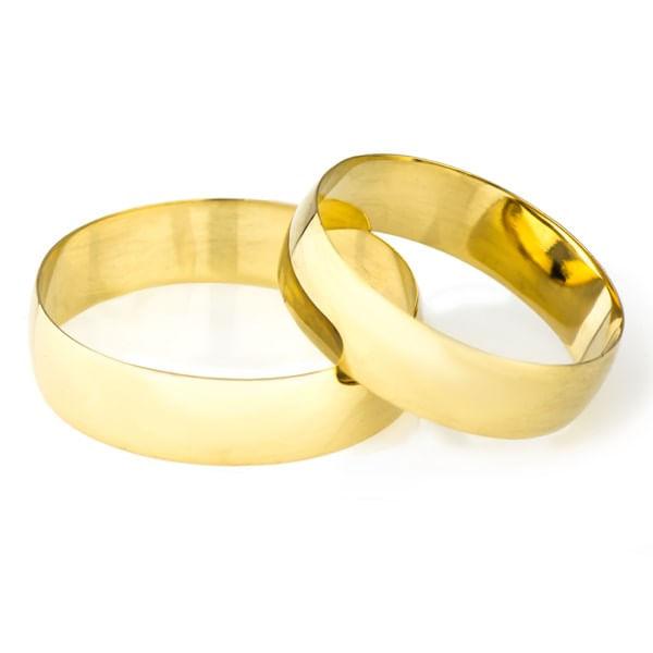 Alianças de Casamento em Ouro 18K 5,0mm al12414