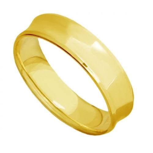 Aliança de Casamento Ouro 18K 6,0mm Concava Masculina eac60a