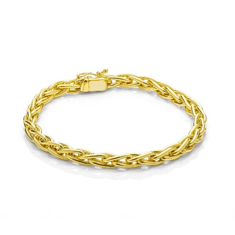 Imagem de Pulseira de ouro masculina grossa