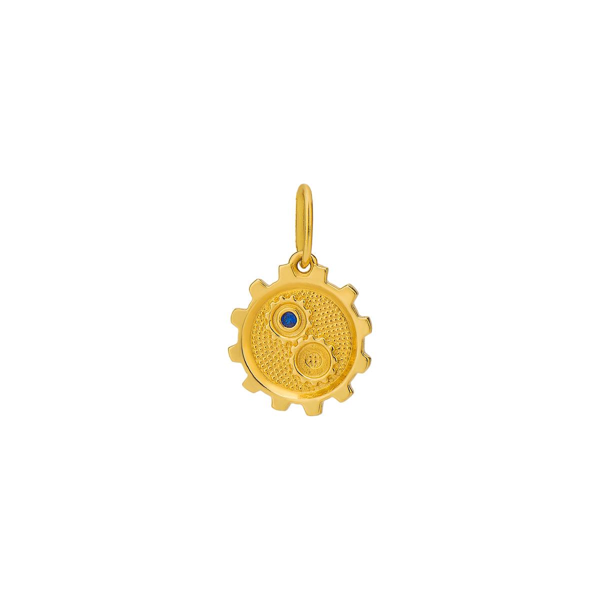 Pingente em Ouro 18k de Formatura com Símbolo de Engenharia Mecânica pi17689