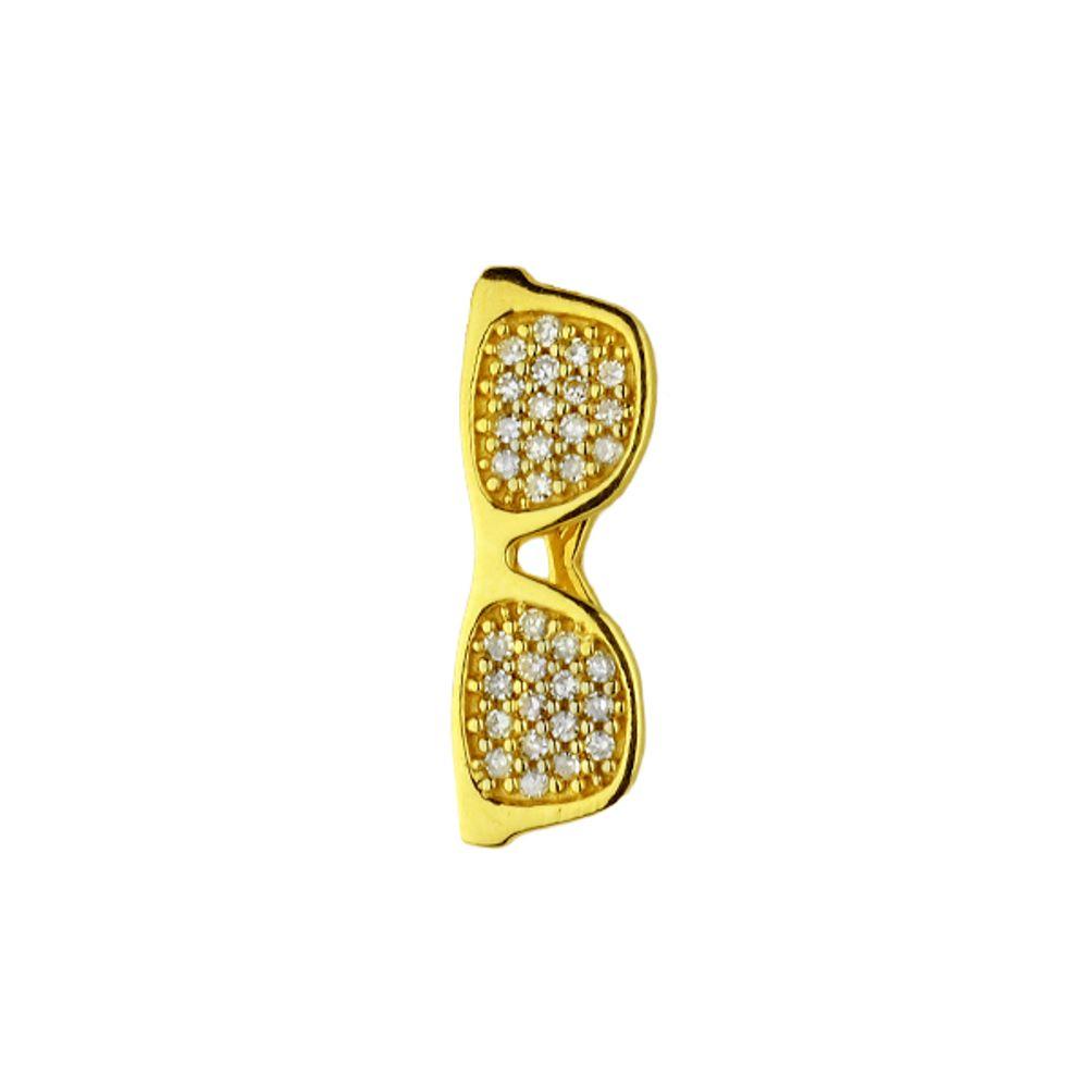 b2a1b21e4 Pingente em Ouro 18k Óculos com Diamantes - joiasgold