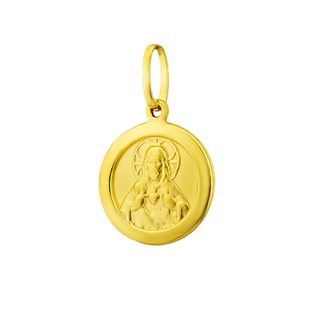 Pingente de Ouro 18k Sagrado Coração de Jesus - joiasgold d9d95fbf39