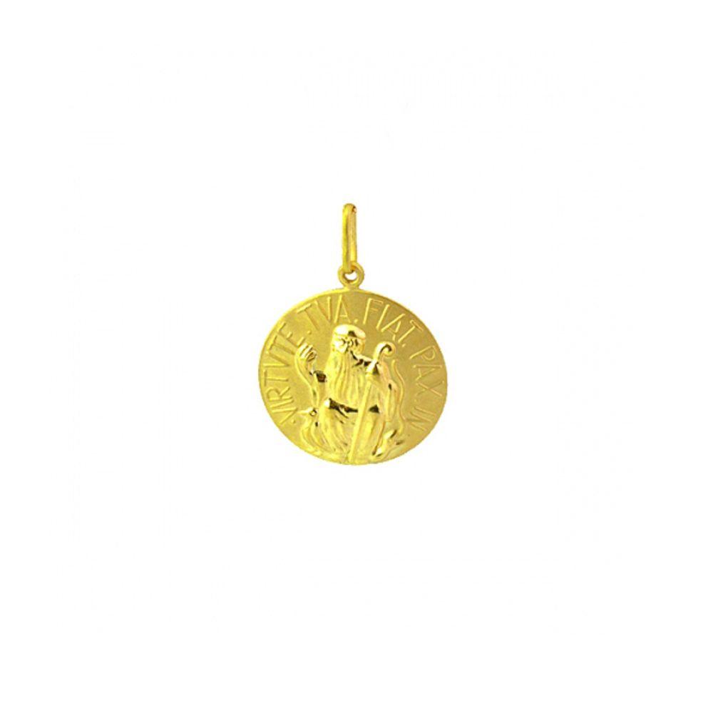 72e8c7755cee4 Pingente de Ouro 18k Medalha de São Bento - joiasgold