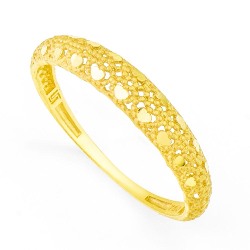 Anel em Ouro 18k Vazado Diamantado - joiasgold ff477bfaf7