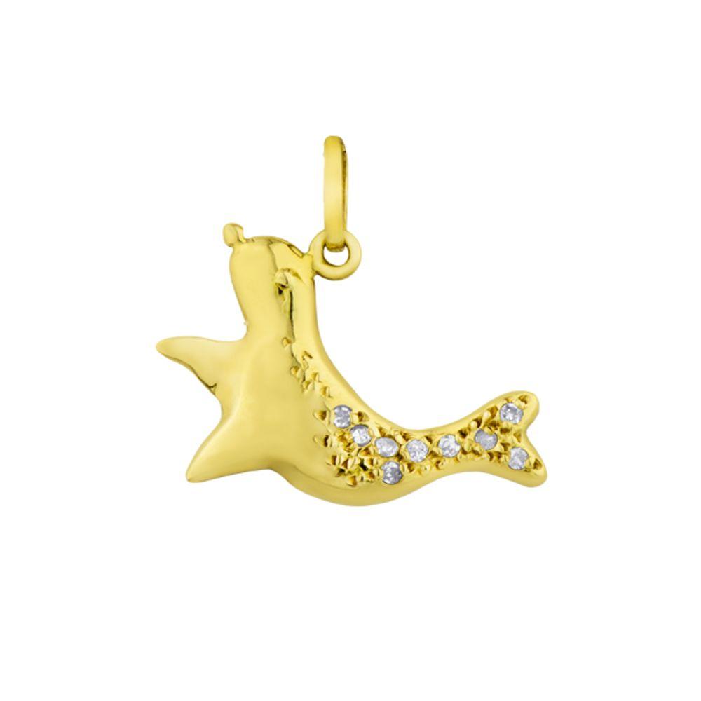 Pingente em Ouro 18k Animal Foca com Diamantes - joiasgold 906c6c9c55
