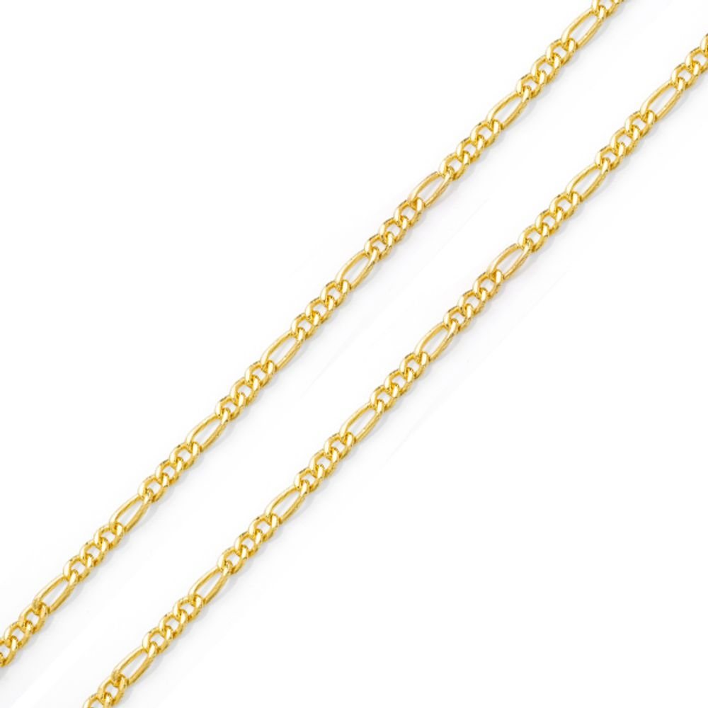 Corrente Masculina Grossa em Ouro 18k Groumet 3 em 1 com - joiasgold e65fbee379