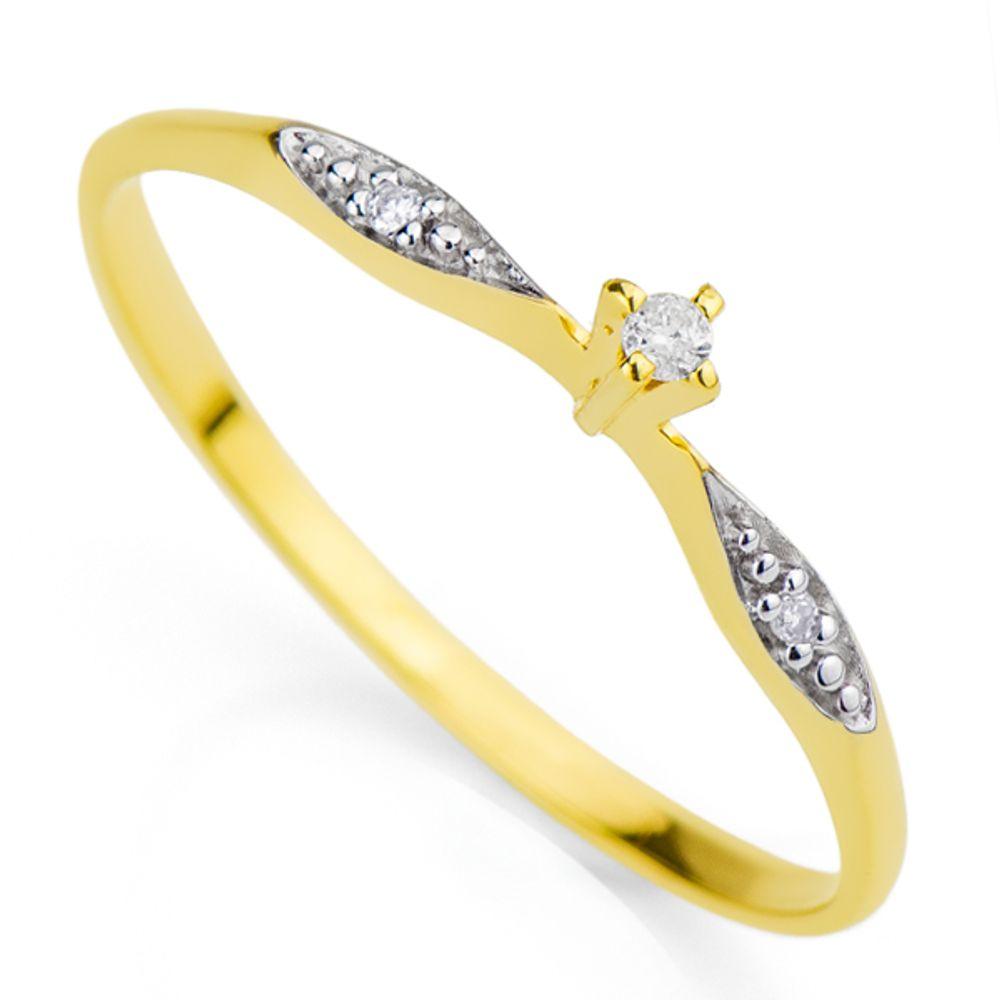 e11026efc54d9 Anel em Ouro 18k Um Diamante Solitário de 1,5 Pontos - joiasgold