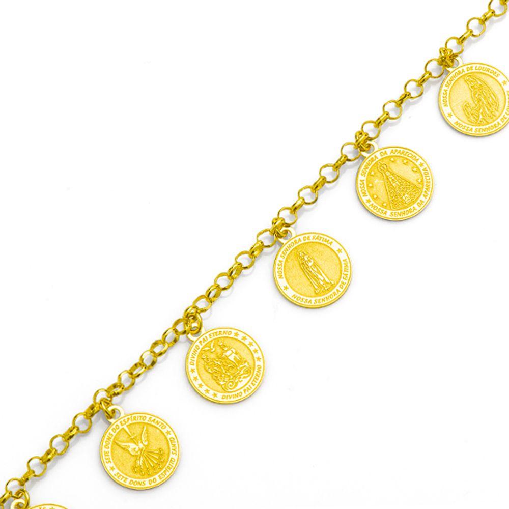 1ff305062a910 Pulseira em Ouro 18k com Berloques de Santos - joiasgold