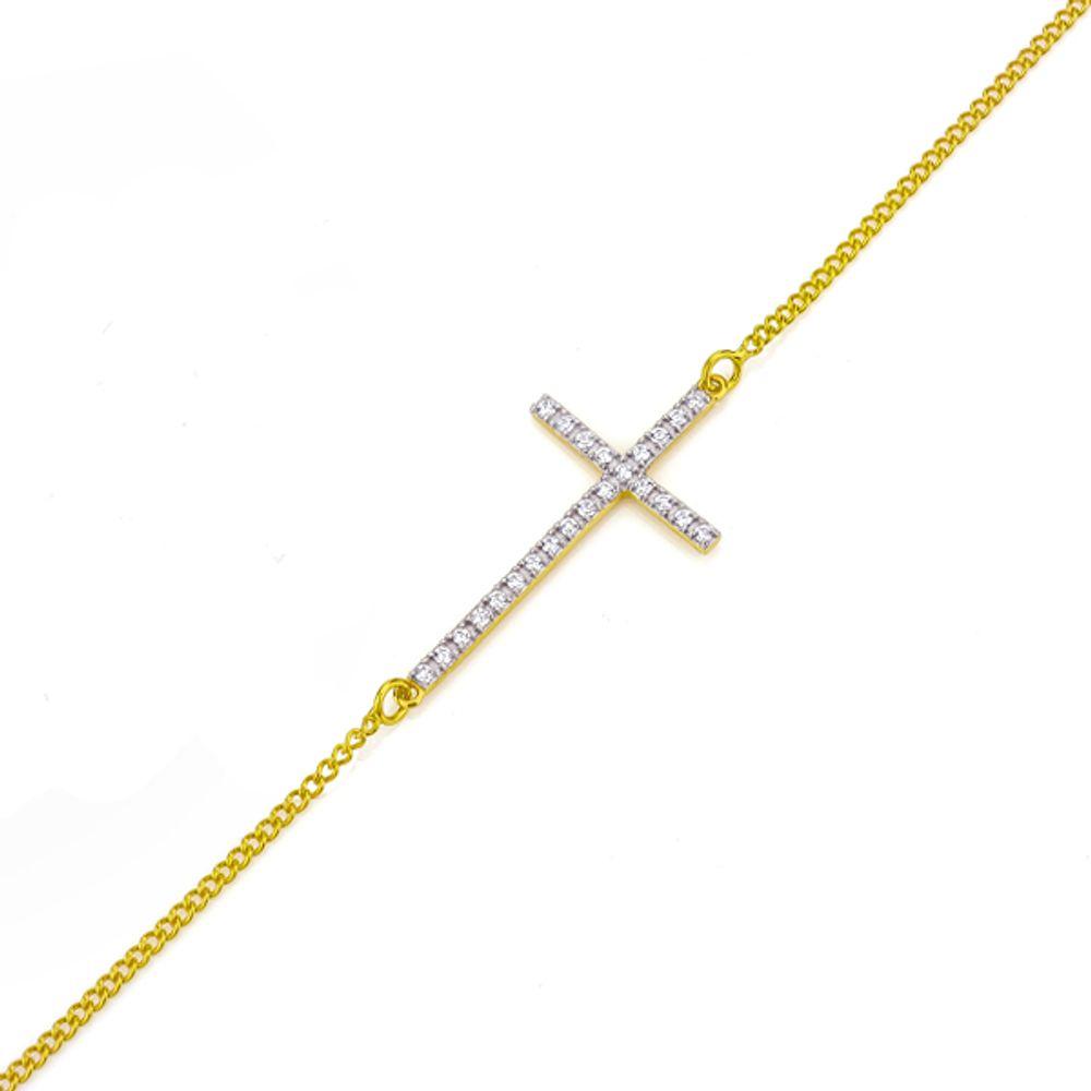 Pulseira de cruz