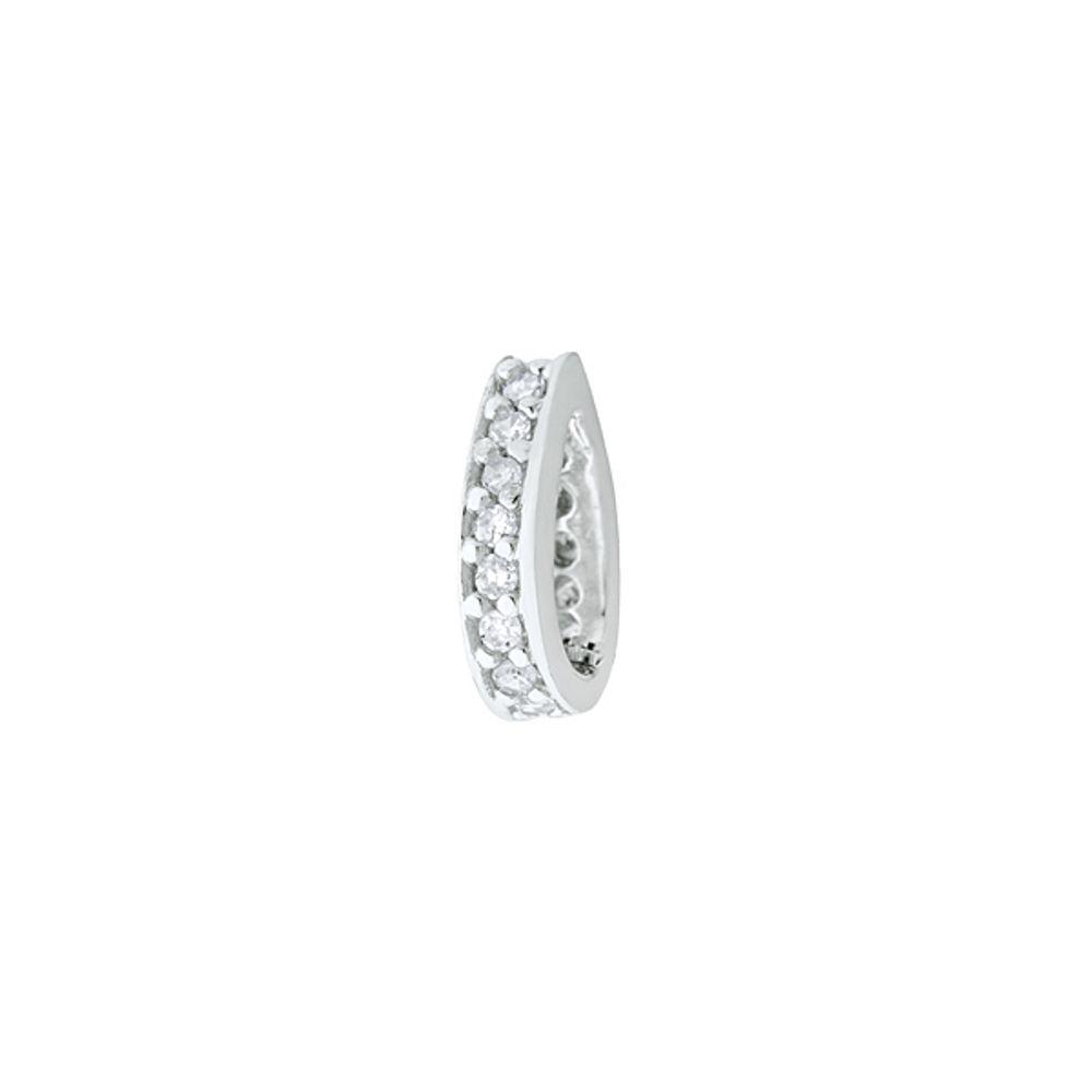 4d198e585ef08 Pingente em Ouro Branco 18k Diamantes Separador - joiasgold