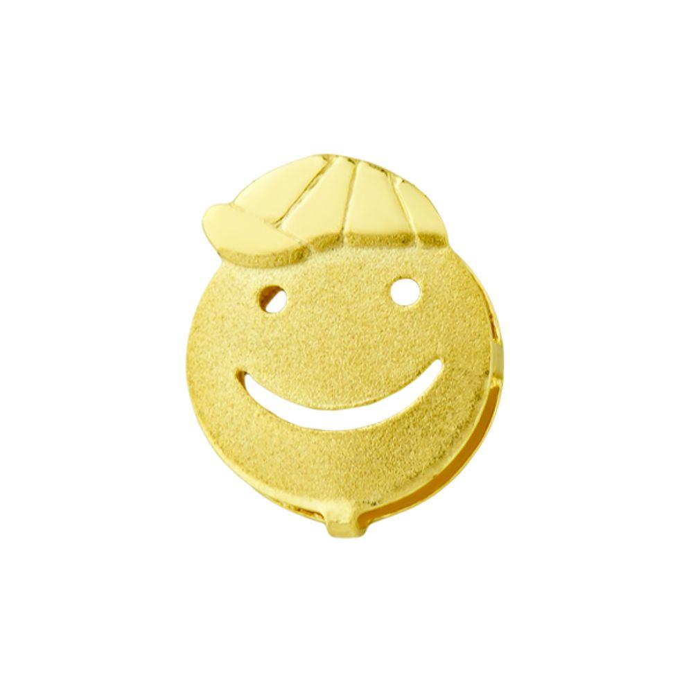 a10927118d7ac Pingente em Ouro 18k Menino Rosto Fosco Sorrindo com Boné - joiasgold