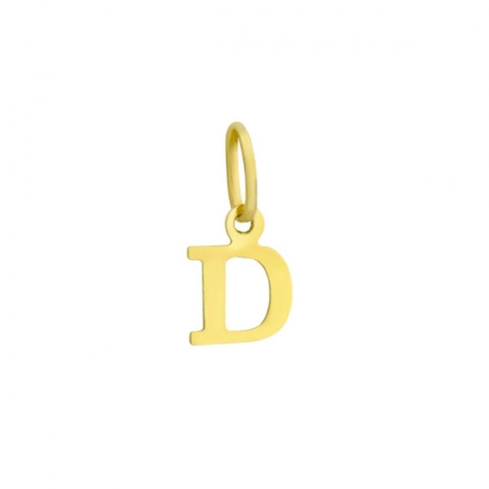 Pingente em Ouro 18k Letra D - joiasgold da78e84199