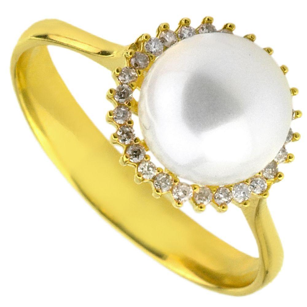 0e5d6122f Anel em Ouro 18k Pérola e Diamantes - joiasgold