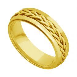 aliança trançada em ouro 18K