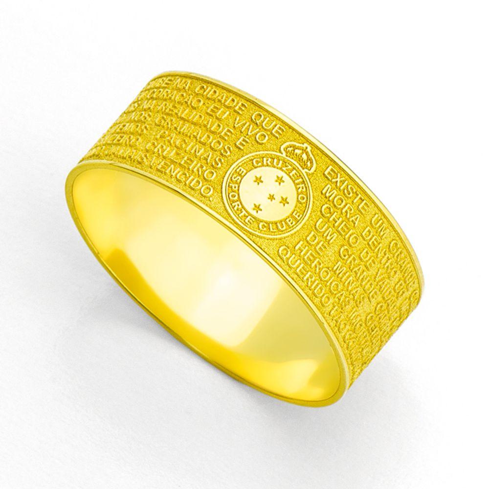 39278abb5c Anel em Ouro 18k Escudo do Cruzeiro Esporte Clube an31842 - joiasgold