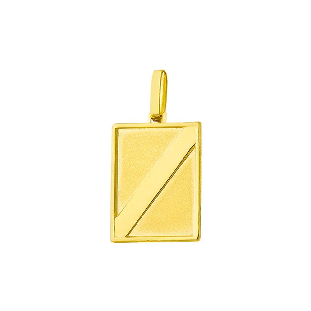 Pingente em Ouro 18k com Placa pi12350 - joiasgold b81758021d