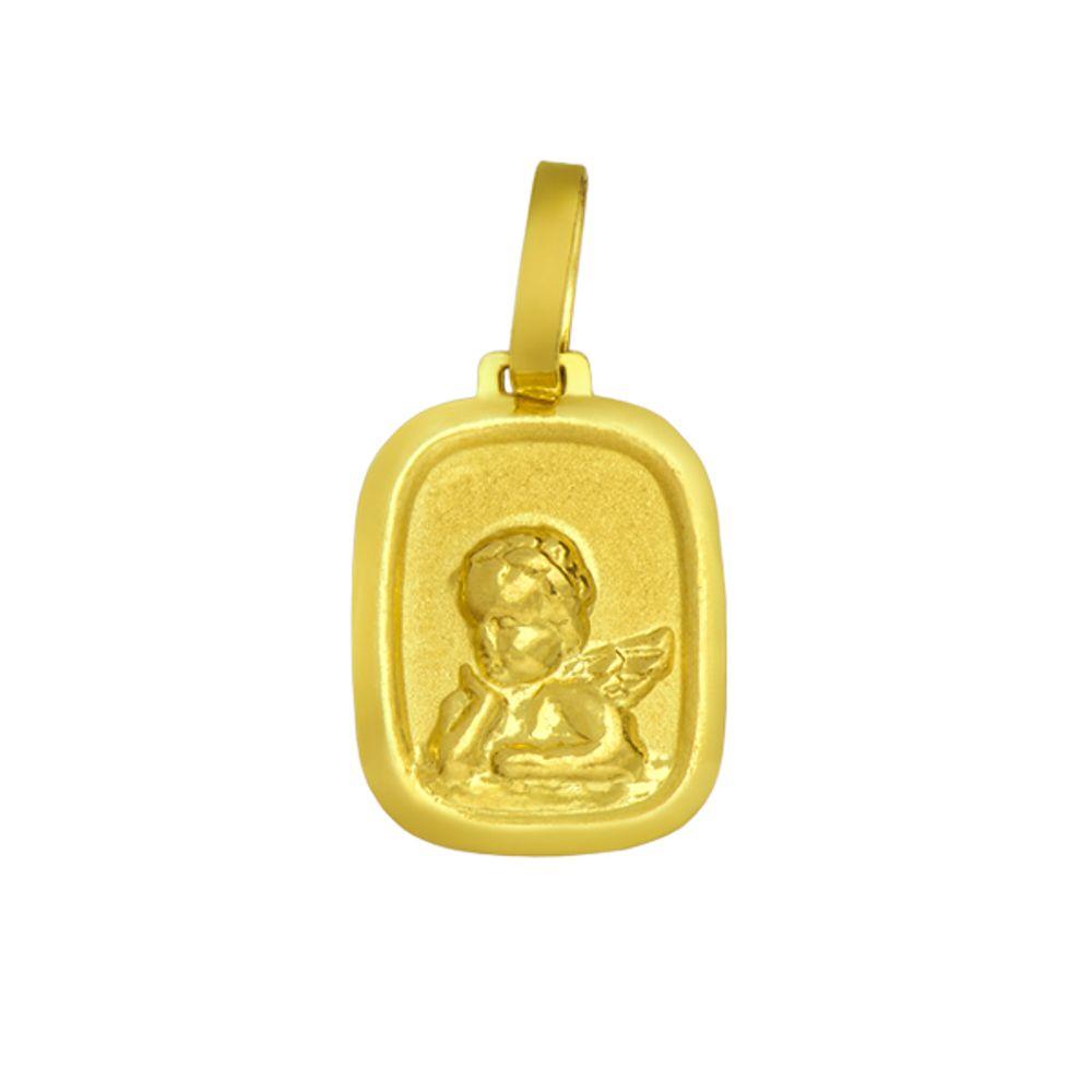 eb12c31018fc2 Pingente de Ouro 18k Medalha com Imagem de Anjo PI08449 - joiasgold