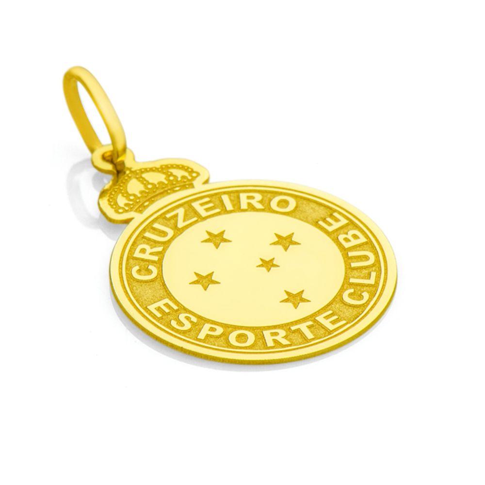 dde2007d40 Pingente em Ouro 18k Escudo Cruzeiro Esporte Clube - joiasgold