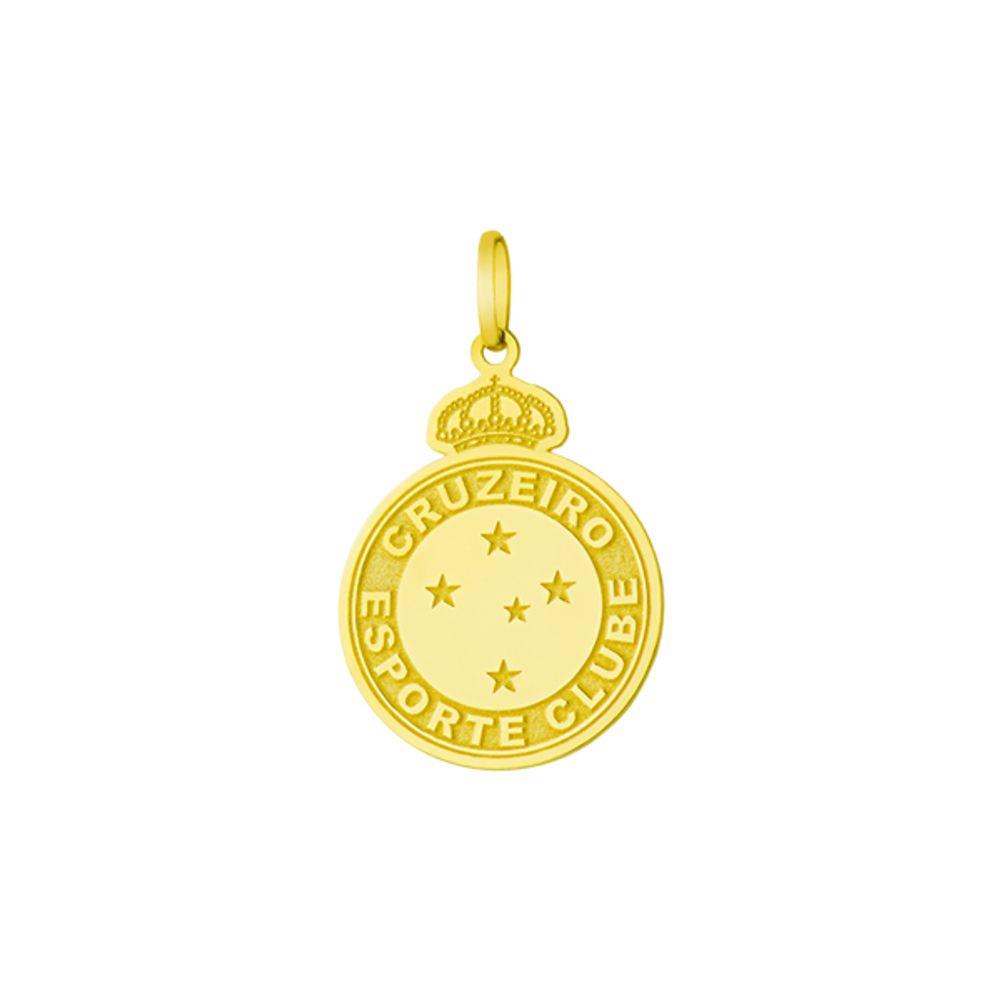 Pingente em Ouro 18k Escudo Cruzeiro Esporte Clube - joiasgold 926f307144d2e