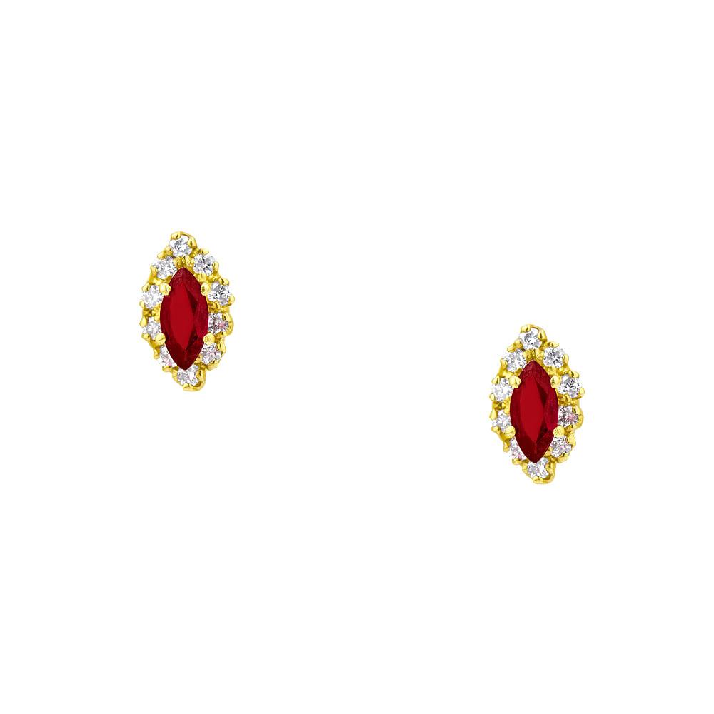 d22f49c5fb5 Brinco em Ouro 18k Rubi e Diamantes - joiasgold