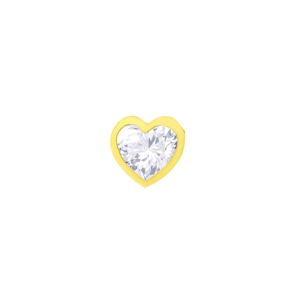 c446bf385b9f6 Pingente em Ouro 18k Ponto de luz Coração com Zircônia pi17308 ...