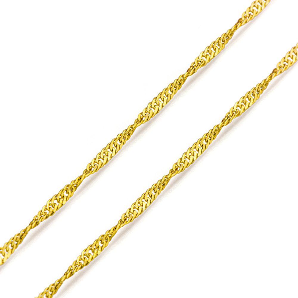 8b83d998ac274 Corrente em Ouro 18k Singapura de 0,9mm com 45cm co01103 - joiasgold