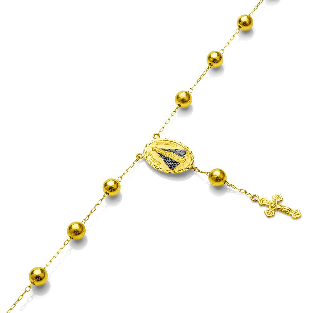 1ca6b3a1c5c Pulseira em Ouro 18k Terço Nossa Senhora Aparecida pu03093 - joiasgold