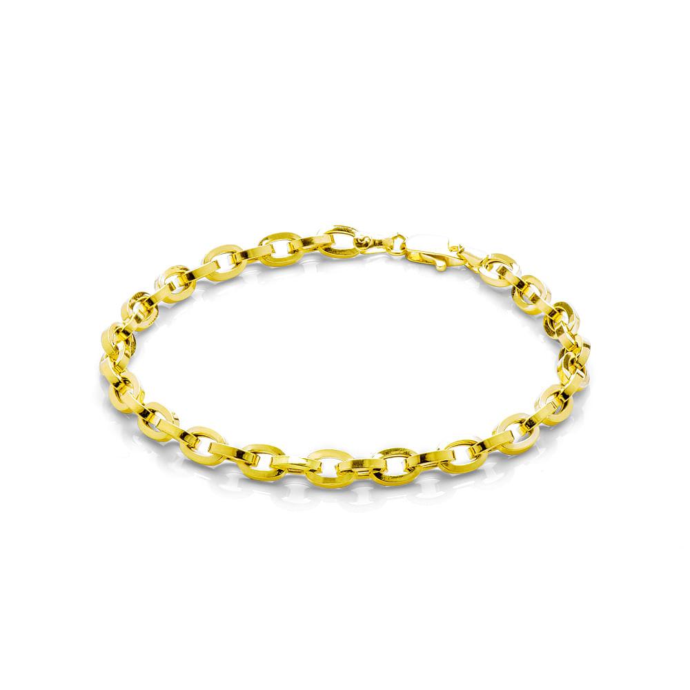 781e37b94e6 Pulseira em Ouro 18k Malha Cartier com 21cm pu03353 - joiasgold