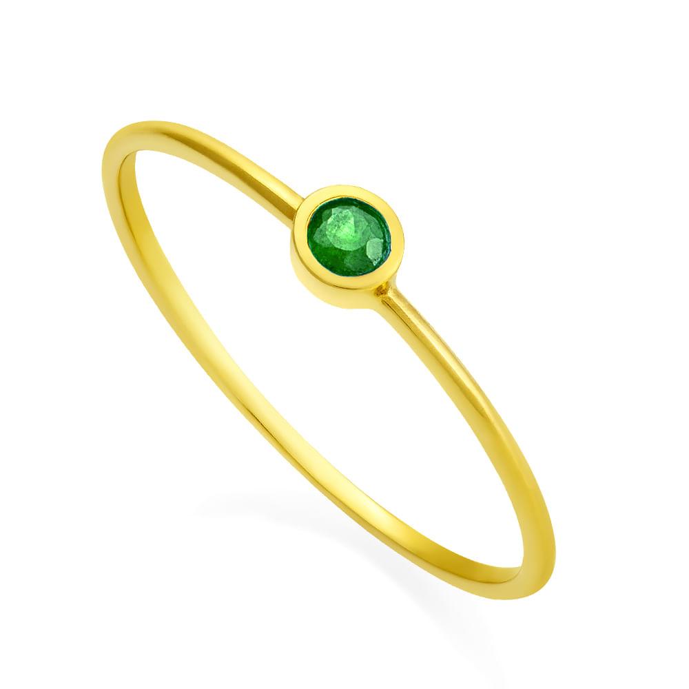 4c0575a6fd8 Anel em Ouro 18k Solitário com Esmeralda an32193 - joiasgold