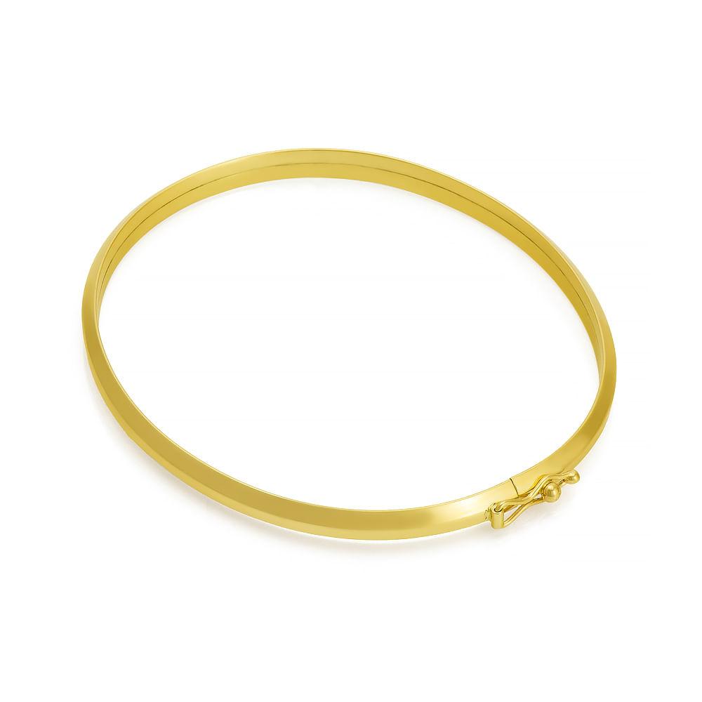 eec98f3cde25e Pulseira em Ouro 18k Bracelete Algema pu03487 - joiasgold