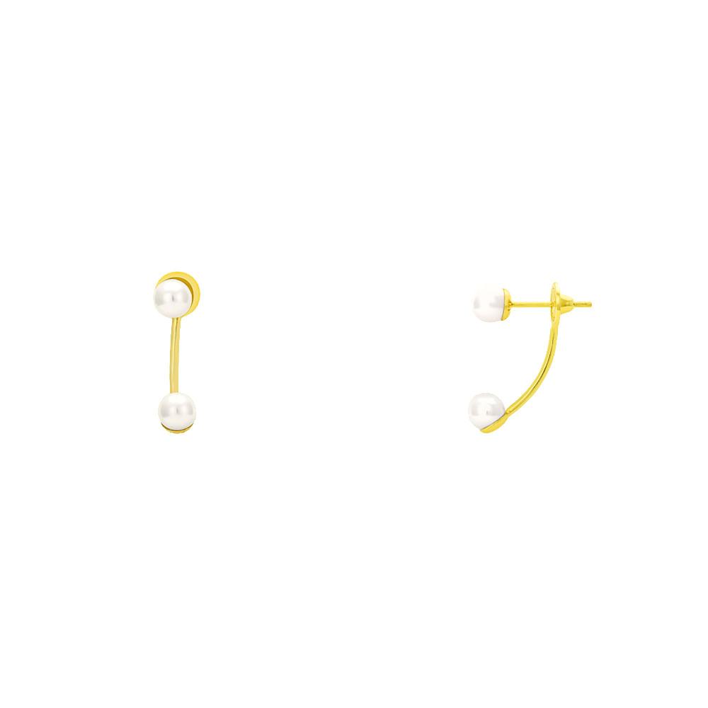 21e7f6acb99 Brinco em Ouro 18k Modelo Grace Kelly com Pérolas br21103 - joiasgold