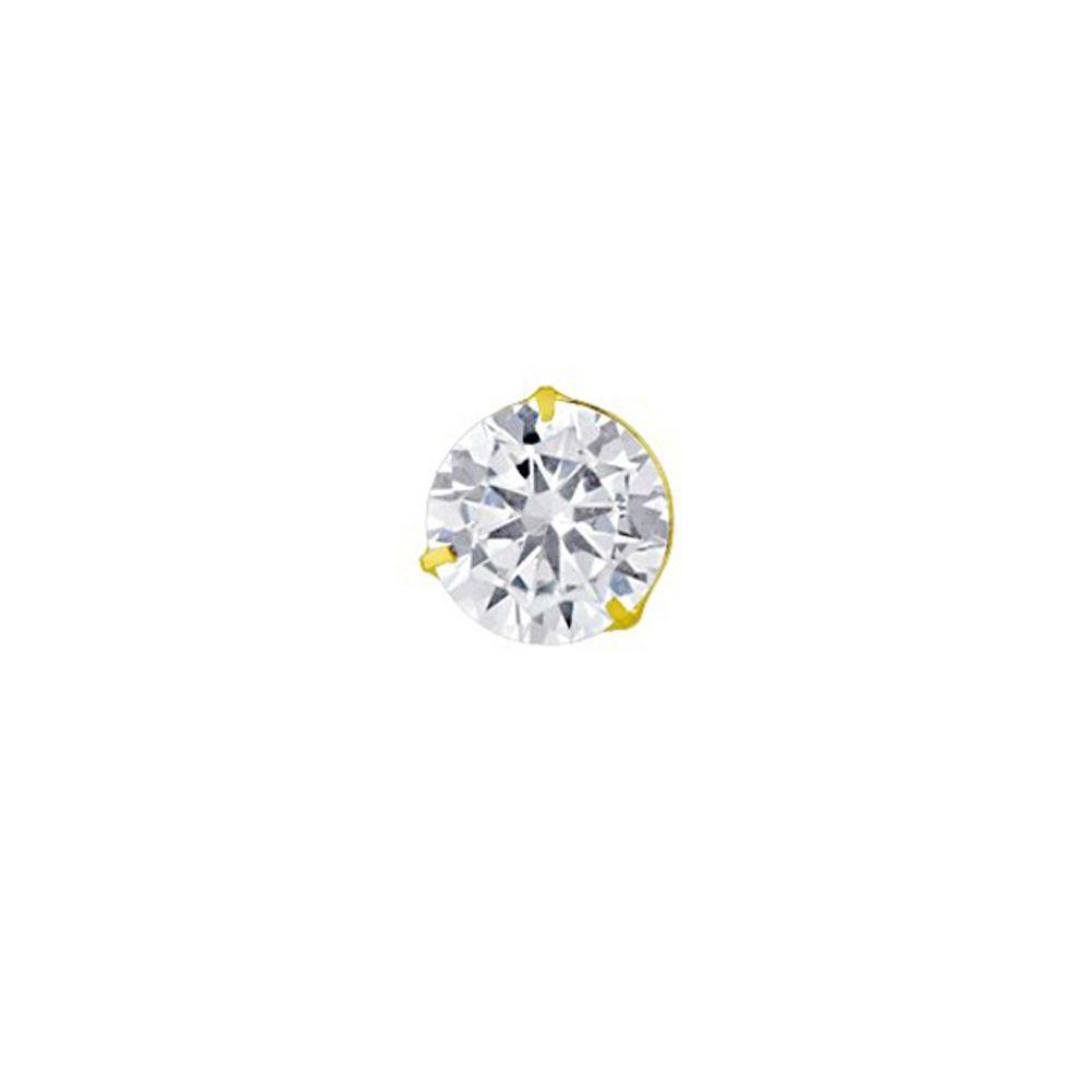 3eb23e9f88e95 Pingente em Ouro 18k Ponto de Luz com Zircônia 7,0mm pi17348 - joiasgold