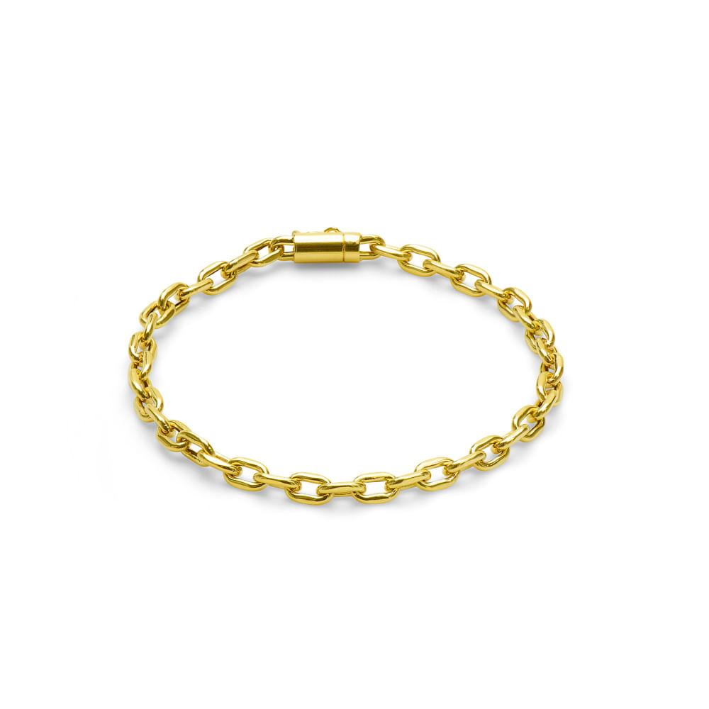 763bf148e33 Pulseira em Ouro 18k Cartier Oval com 20cm pu03705 - joiasgold