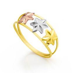Anéis - Anel de Ouro Amarelo e Branco – joiasgold a76001089a