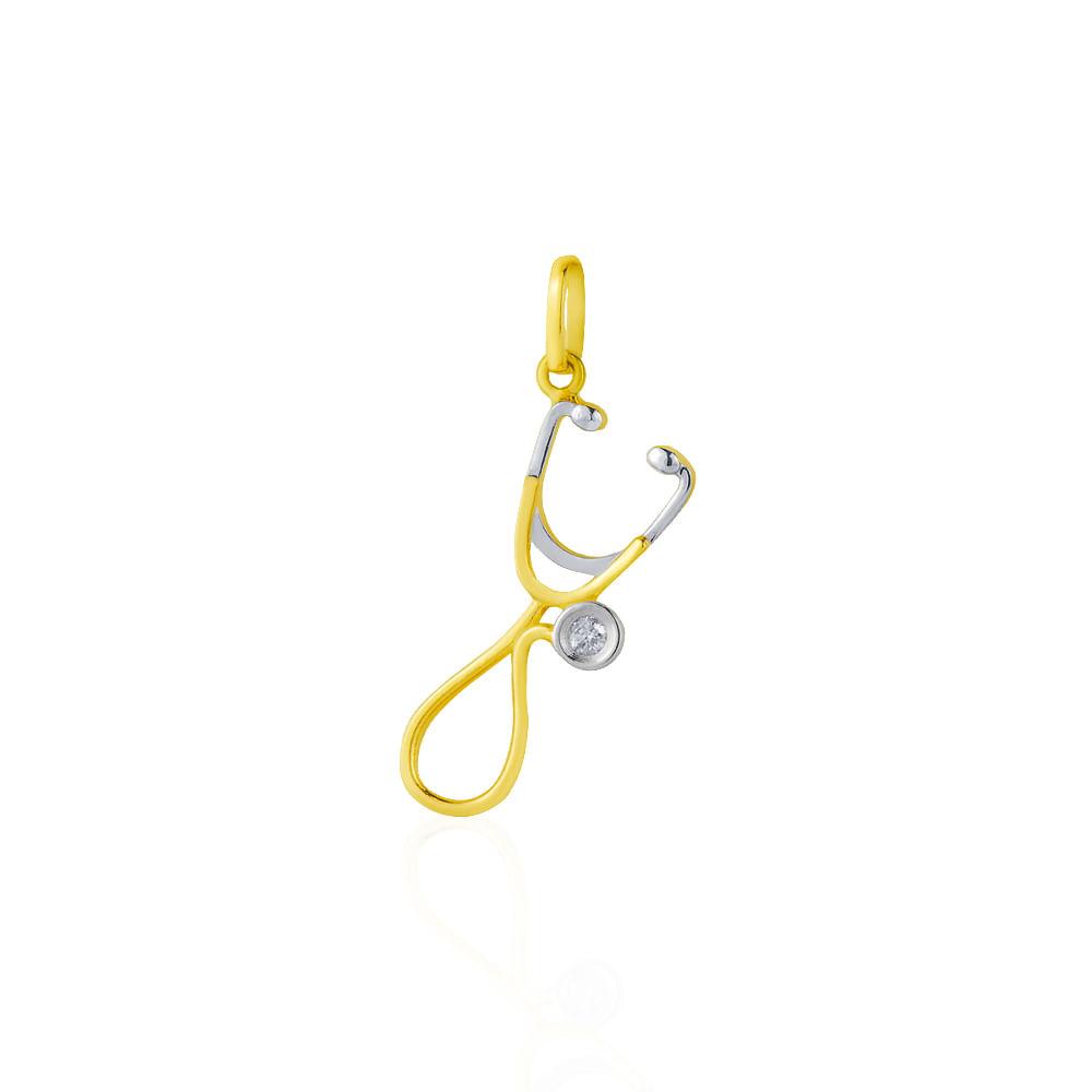 a109e8895e2ac Pingente em Ouro 18k de Formatura Medicina pi18052 - joiasgold