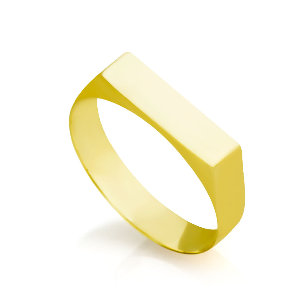 Anel em Ouro 18k Chapa Liso an19204 - joiasgold 77408f4a7c2