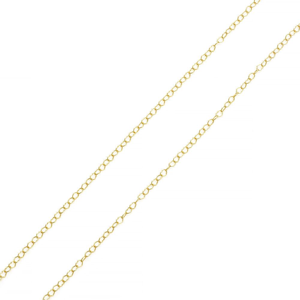 08a99fc9120c9 Corrente em Ouro 18k Malha Corações com 40cm co02468 - joiasgold
