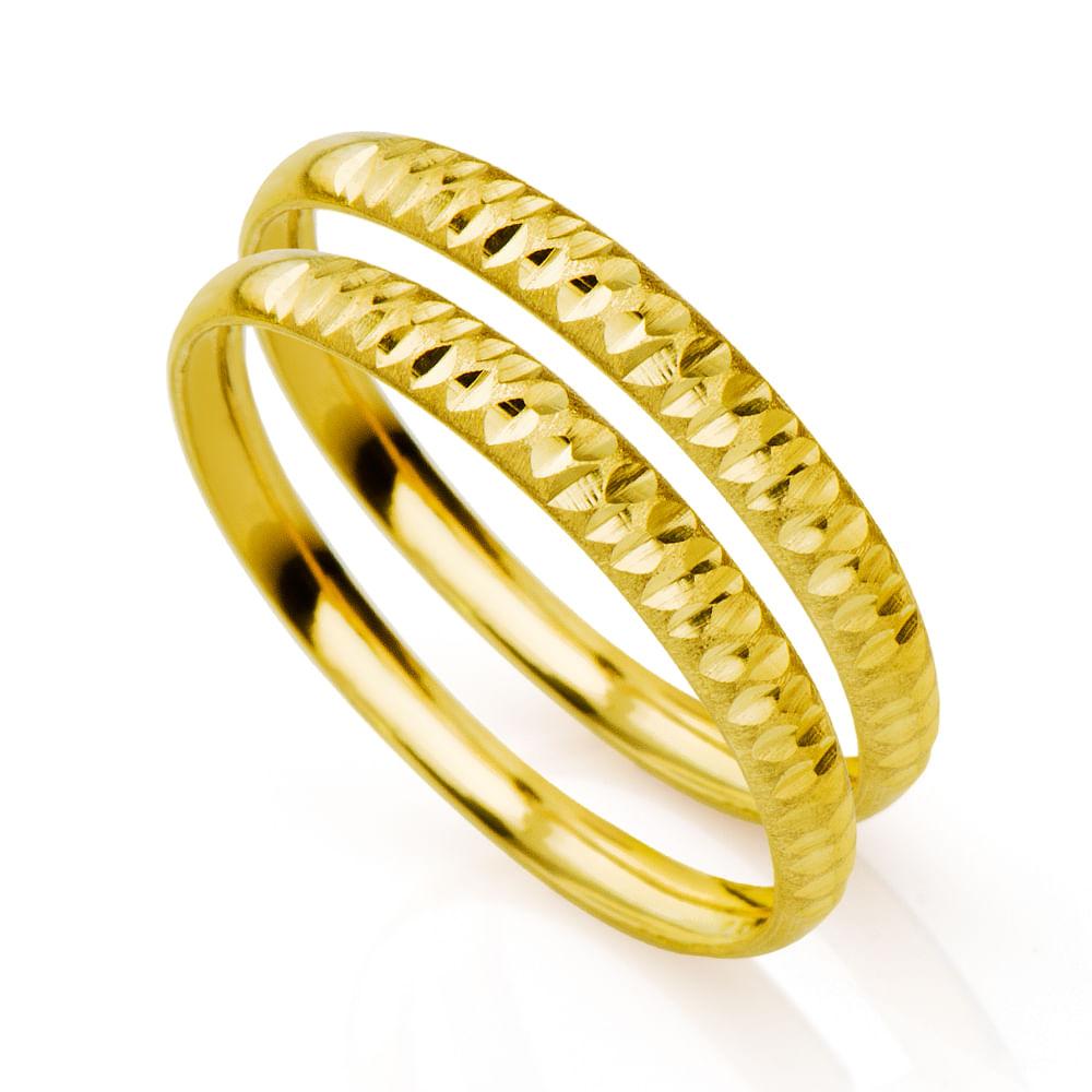 6c568dcf87cc9 Par de Aparador em Ouro 18k Diamantado an31631 - joiasgold