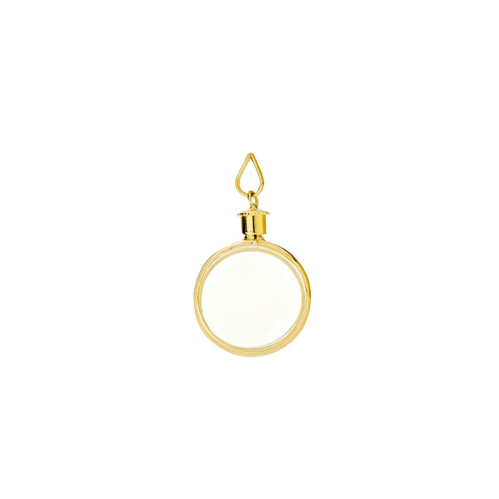 Pingente em Ouro 18k Relicário Acrílico pi17892 - joiasgold e37e77855a