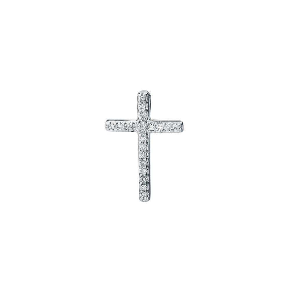 5977a5841c916 Pingente em Ouro 18k Cruz com Diamantes pi18388 - joiasgold