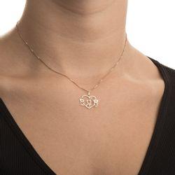 1bc5d4aa8e088 Pingente em Ouro 18k Casal Menino e Menina com Diamante pi19000 ...
