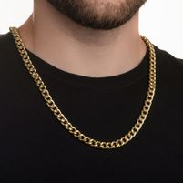 Corrente de Ouro Masculina 18k Groumet de 8,4mm com 60cm co02530