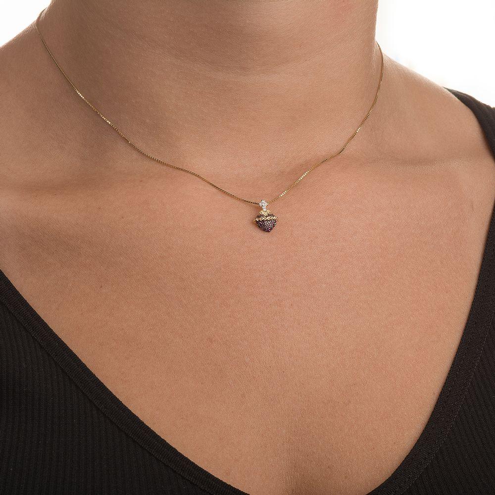 e549294547d82 Pingente em Ouro 18k Sagrado Coração com Rubis e Diamantes pi18403 ...