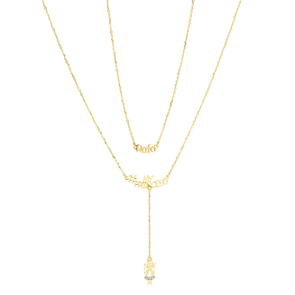 Gargantilha em Ouro 18k Nome Até 4 Letras Menina com Diamantes ... 8797e8f97d