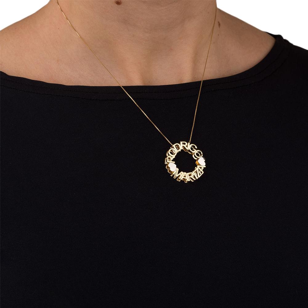 Pingente em Ouro 18k Mandala Nome até 13 Letras pi18594 - joiasgold 559a24bd06