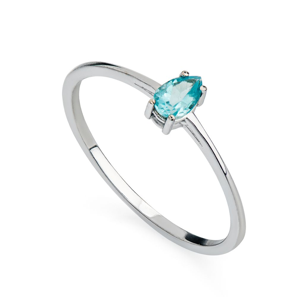 b53174f18989f Gargantilha em Ouro Branco 18k Gravata com Apatita e Diamante ...