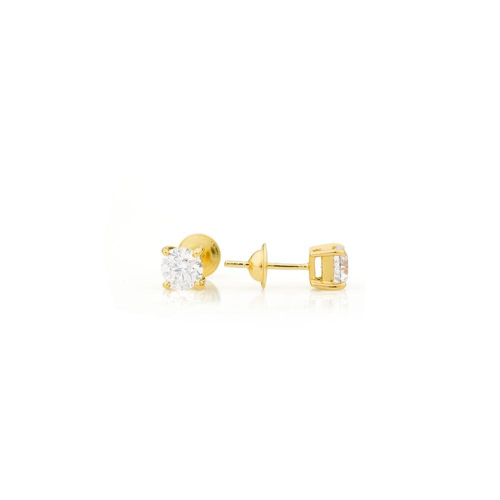 Brinco em Ouro 18k Cartier com Diamante de 70 Pontos br22101 - joiasgold d44652ef90